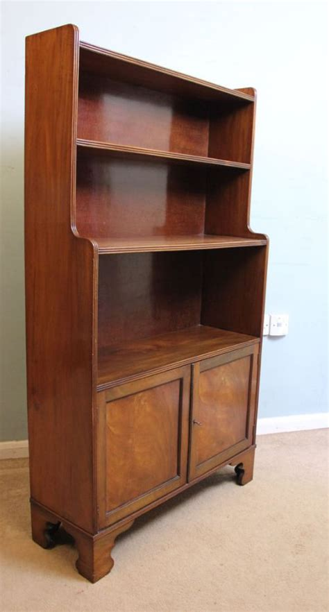Open The Cupboard Antique Mahogany Open Bookcase Cupboard 455274