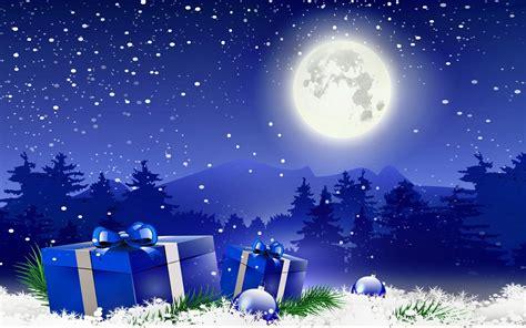 christmas winter moon gifts wallpaper  desktop  wallpaperscom