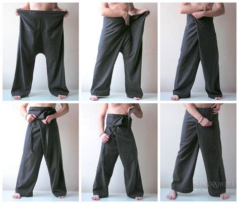 yoga wrap pants pattern thai fisherman pants coffee fishermen trousers wrap