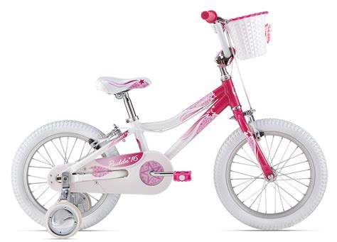 16 inch bike puddn white pink 16 inch bicycle h2 gear