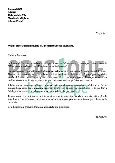 Exemple De Lettre De Recommandation D Un Ami Modele De Lettre De Recommandation D Un Ami
