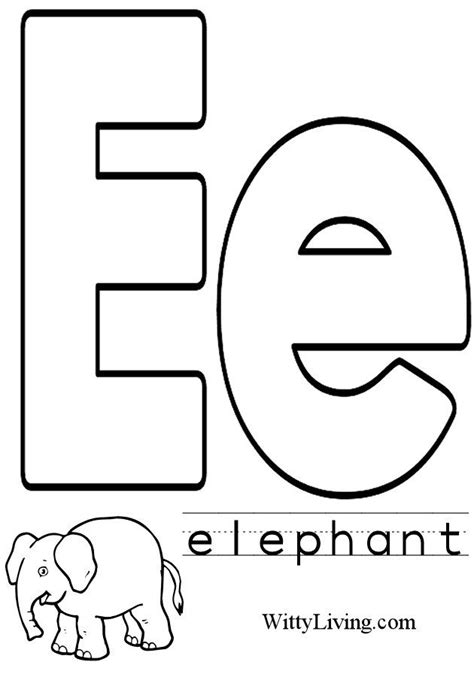 coloring pages with letter e coloring pages letter e kids crafts for kids to make