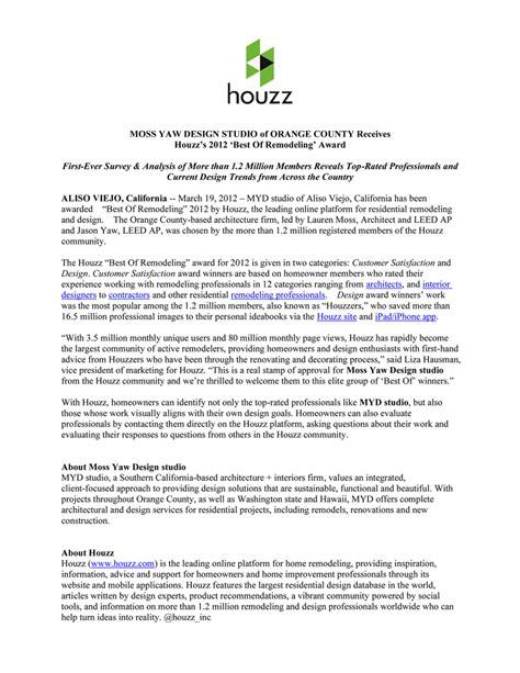 best press releases best of remodeling 2012 houzz myd moss yaw