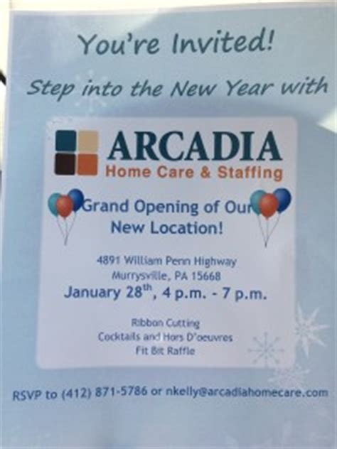 grand opening of the new arcadia home care visit