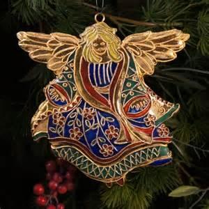 nib 4595 cloisonne christmas ornaments flat renaissance