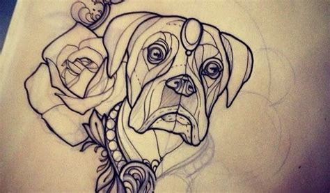 boxer dog tattoo designs 30 traditional tattoos