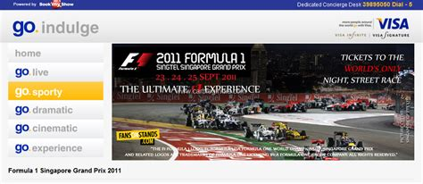 bookmyshow singapore buy singapore grand prix tickets in india on bookmyshow