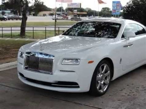 2014 rolls royce wraith inside and out overview white