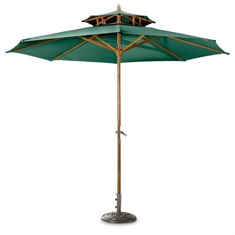 Umbrellas For Patios Castlecreek 10 Two Tier Market Patio Umbrella 234562 Patio Umbrellas At Sportsman S Guide