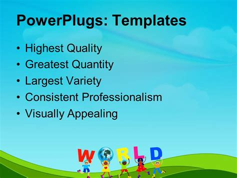 kid powerpoint templates powerpoint template diverse holds letters to spell