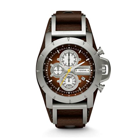 Fossil Jr 1390 Original Leather jake chronograph brown leather fossil