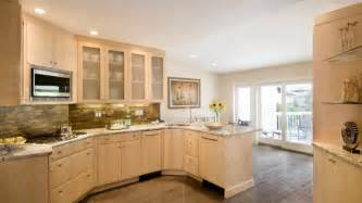 Refinish Kitchen Cabinets Ideas Quartz Countertops With Natural Maple Cabinets