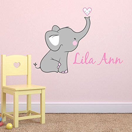 Elephant Wall Decals Nursery Best 25 Elephant Wall Decal Ideas On Elephant Decorations Pink Elephant Nursery