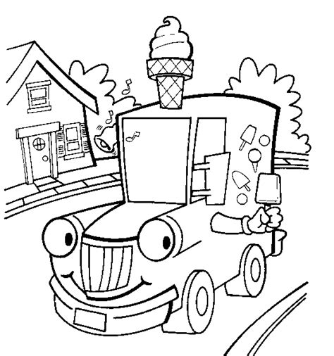 Ice Cream Truck Coloring Pages sketch template
