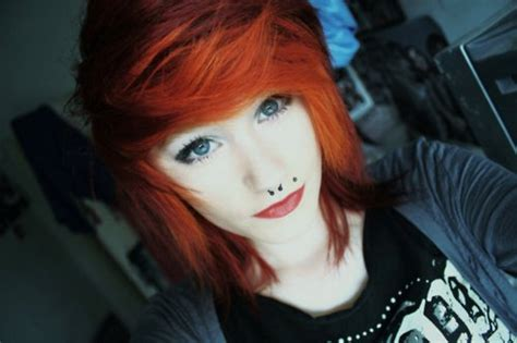 short emo hairstyles tumblr alternative angel bite beautiful colored hair colorful