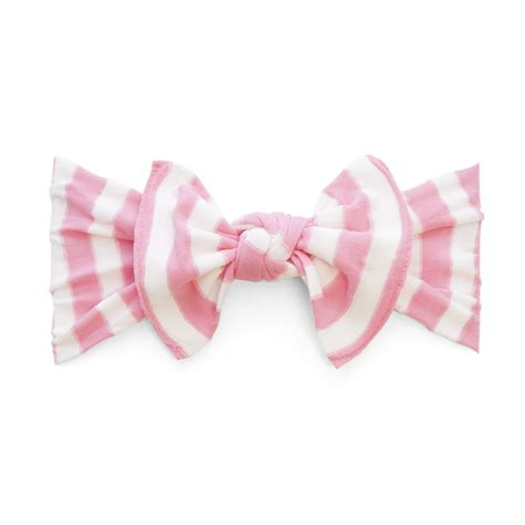 Striped Knot Headband baby bling bow knot headband in prink stripe shop soft