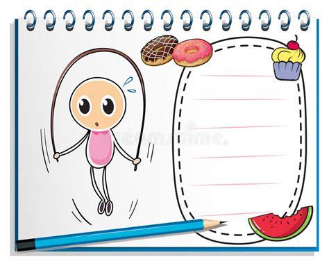 le prix d un carnet un carnet avec un dessin d une fille jouant avec le dispositif de protection en cas de
