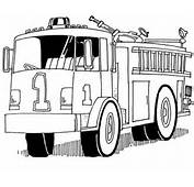 Truck Helping Firefighter Kill The Fire Coloring Page Sky