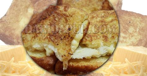 buat roti goreng mudah roti cheese goreng meleleh dari dapur