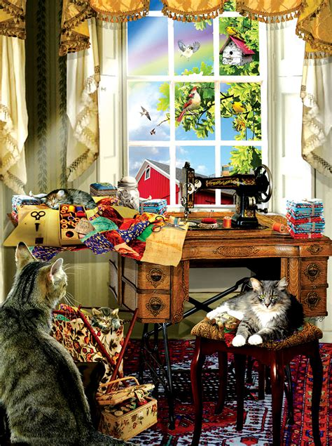 sewing room  pieces sunsout puzzle warehouse