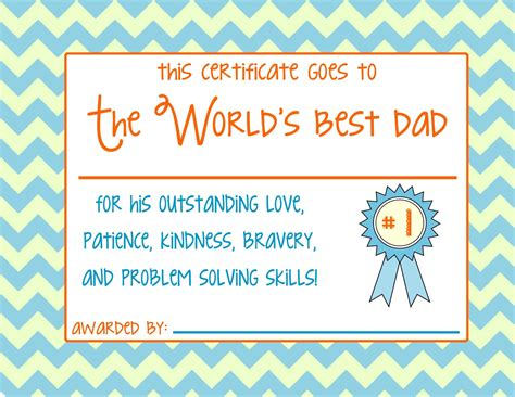 s day certificate s day certificate print fathers day