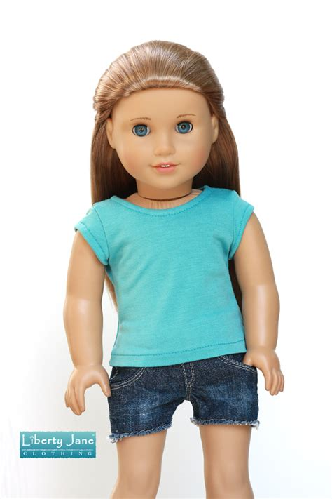 t dolls teal cap sleeve t shirt for dolls liberty couture
