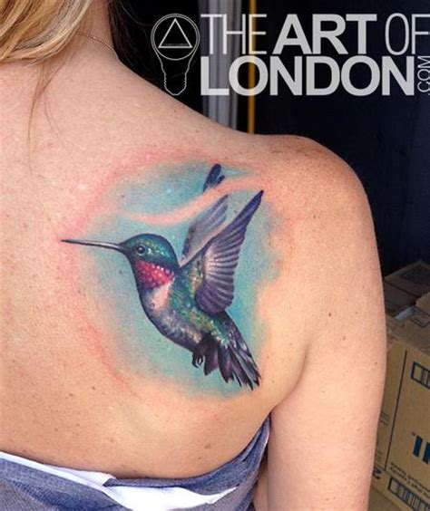realistic hummingbird tattoos hummingbird by reese tattoonow