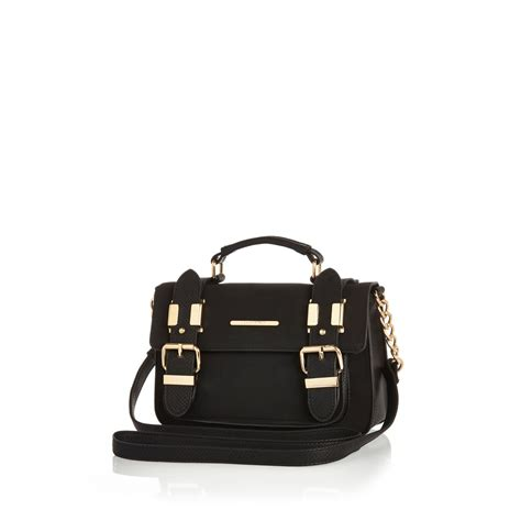 Buckle Suede Mango Sling Bag river island black faux suede mini satchel handbag in