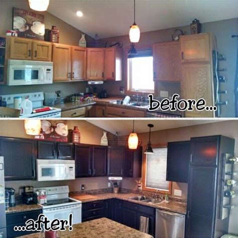 brown mahogany gel stained kitchen cabinets general