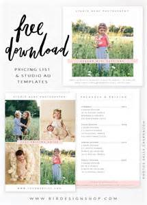 Free Photographer Templates by Free Pricing List Studio Ad Templates Bird Design