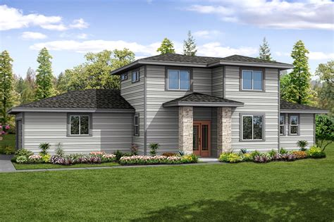 contemporary prairie style house plans