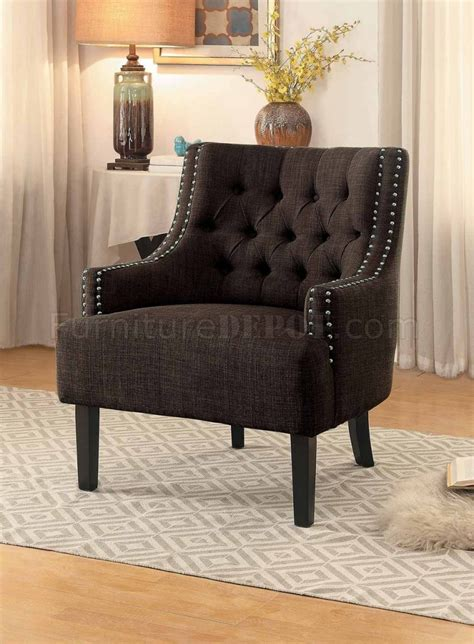 charisma chocolate accent chair from homelegance coleman charisma accent chair 1194ch in chocolate fabric by