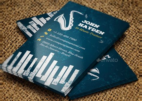Free Piano Business Card Template