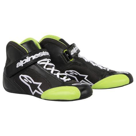 Alpinestar Boots Green alpinestars tech 1 k kart boots in black green from
