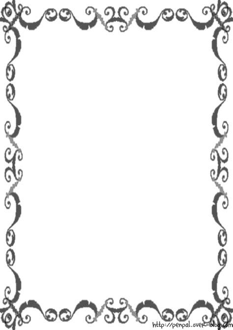 Modèles De Papier à Lettre Gratuit Papier A Lettre Noir Et Blanc Le De Finou