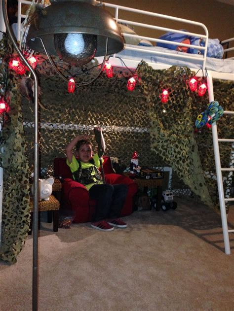 Camo Bunk Beds Soldier Room Camo Netting And Lantern String Lights From Cabella S For His Army Fort His