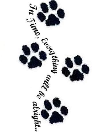 dog paw print tattoos designs 21 cool paw tattoos ideas