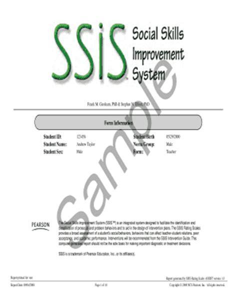 Social Skills Improvement System Report Template Social Rating Report Templates Fill Online Printable Fillable Blank Pdffiller