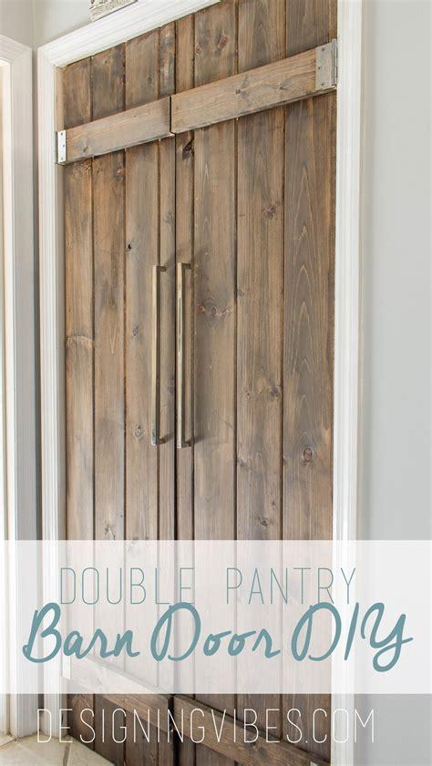 Double Pantry Barn Door DIY Under $90  Bifold Pantry Door DIY