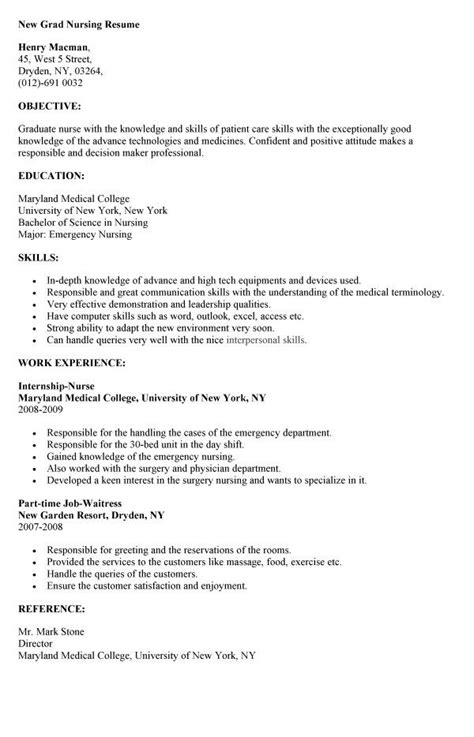 How To Write A Nursing Resume New Grad by 17 Best Ideas About Nursing Resume On Rn