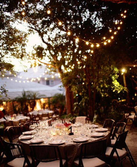 Outdoor Wedding Reception Decorations Romantic Decoration Lights Wedding