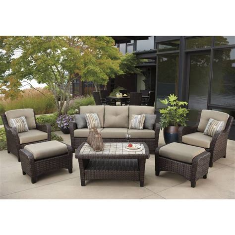 outdoor sectional costco costco resin wicker patio furniture