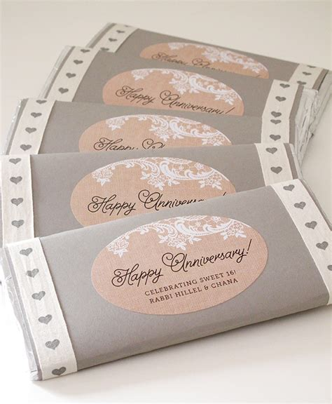 Chocolate Giveaways Ideas - anniversary chocolate bar favors weddings ideas from evermine