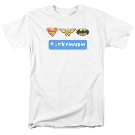 Tshirt Superheroes 19 From Ordinal Apparel dc superheros t shirt hashtag jla mens white