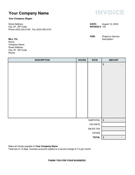 tax invoice excel template tax invoice template excel free business template