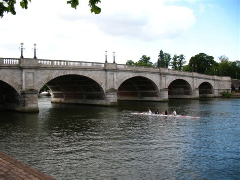 file kingston bridge over the thames london jpg thames path kingston to kew bridge including part of
