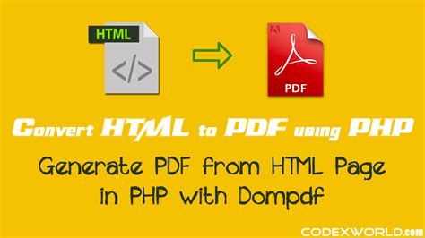 tutorial dompdf codeigniter convert html to pdf in php with dompdf codexworld
