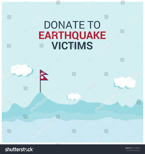 Donation Letter For Nepal Earthquake Donate Earthquake Victims Dopray Nepal Save Stock Vector