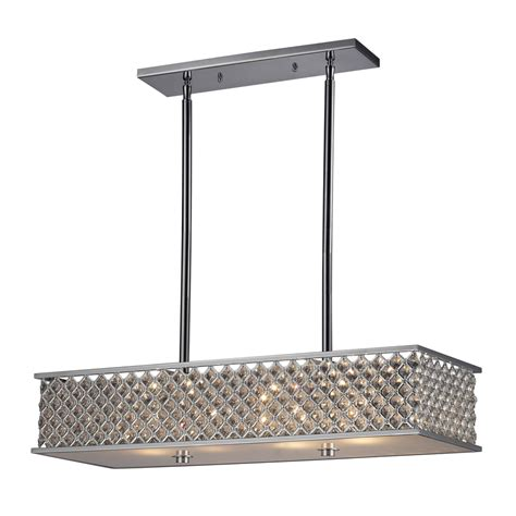 Lowes Lights For Kitchen Shop Westmore Lighting 31 In W 4 Light Polished Chrome Kitchen Island Light With