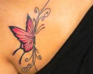 Lipby blogs red butterfly chest piece tattoo